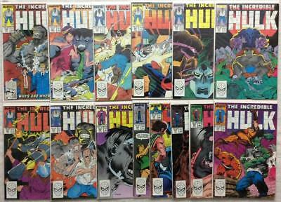 Incredible Hulk #346 to #359 unbroken run (1988 Marvel) 14 X issues VG to VF