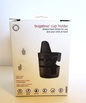 Bugaboo Coffee Cup Holder Works With Every Bugaboo Stroller Black New Cameleon