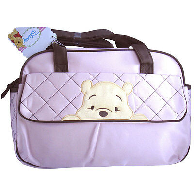 Disney Winnie The Pooh PeeKaBoo Baby Diaper Bag Pink Travel Tote Bottle Nappy