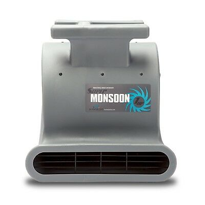 Soleaire Super Monsoon SA-SM-1HP-GY Grey Air Mover Carpet Dryers for Professiona