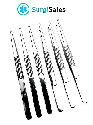 "6 Thumb Tissue Forceps 5.5"" 1x2 Teeth - Rat Tooth Surgical Instruments"