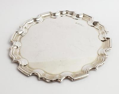 Vintage STERLING SILVER Small CARD TRAY Sheffield 1998