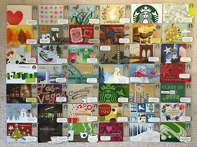 Starbucks Vintage Old New Logo City 42 Cards Unique Lot Set Collection RARE