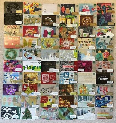 Starbucks Vintage Old New Logo 60 Cards Unique Lot Set Collection RARE