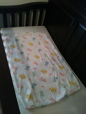 Vintage Care Bear Cousins Mini Crib Pack N Play Sheet And Receiving Blanket
