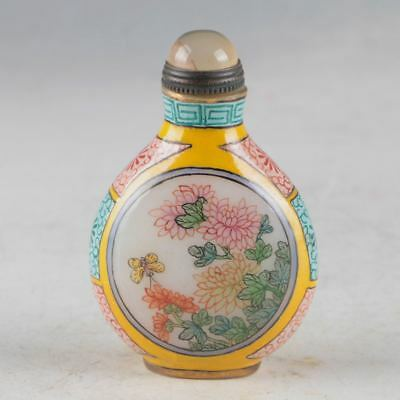 China Glazed Handwork Carved Snuff Bottle Made During Of QianLong Period GL957