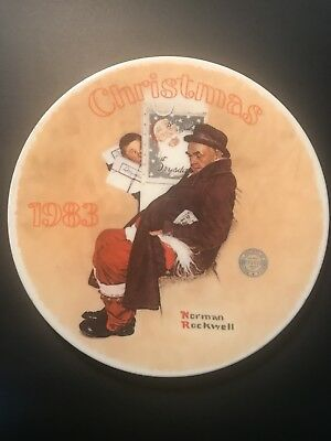 Norman Rockwell Collector Plate Christmas 1983 Edwin Knowles