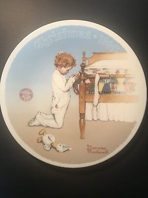 Norman Rockwell Collector Plate Christmas 1990 Edwin Knowles
