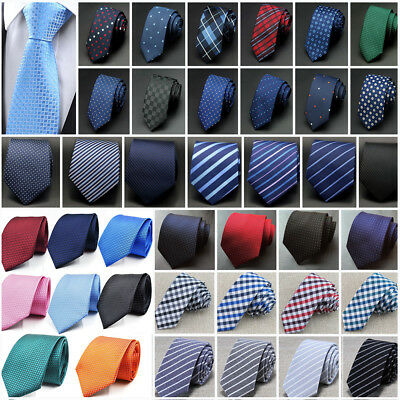 Men's Jacquard Woven Business Party Wedding Narrow Skinny Slim Tie Necktie NEW
