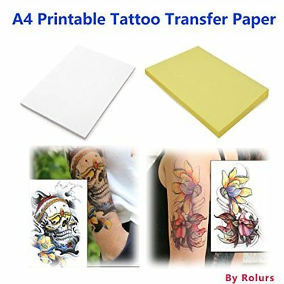 10 Sheets Diy A4 Temporary Tattoo Transfer Paper Printable Customized For Inkjet
