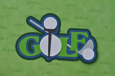 Fully assembled 'Golf' scrapbook title