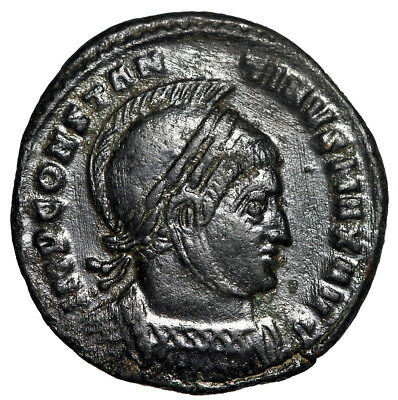 """RARE CONSTANTINE I COIN """"Quality Portrait Victories"""" Ticinum The Great CERTIFIED"""