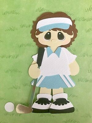Golfer girl fully assembled paper piecing / die cut