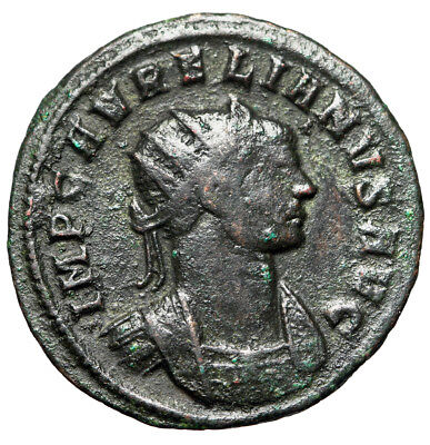 SPIKE CROWN Roman Coin of Aurelian Minted in Rome 272-274 AD Certified Authentic