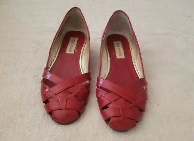 e1cc8b79252 STEVE MADDEN CHERRY Red Leather Heels -  25.00