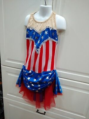 Costume Gallery Dance Dancewear Stars Stripes Outfit Patriotic Adult S