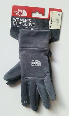 The North Face Womens Etip Gray Winter Outdoor Snow Glove Sz M