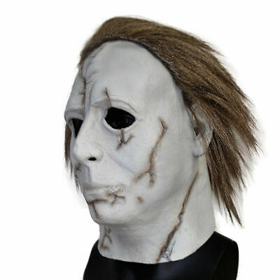 Scary Halloween Mike Myers Mask Latex Adults Fancy Dress Theme Costume Party
