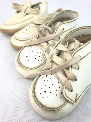 Vintage two pair White Baby Shoes size 0- 6 month Buster Brown and Made in Japan