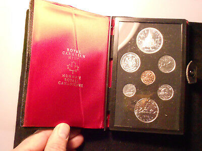 1976 Canada 7 Coin Proof Set With Coa And Case  Free Shipping