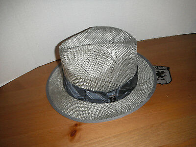 STACY ADAMS MENS Deluxe FIRM WOOL Fedora Hat Light Grey SMALL ... 82e1dca37cd1