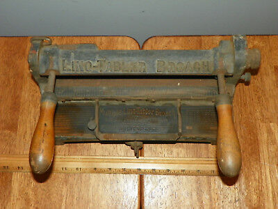 Vintage MULTIPLE LINO-TABLER BROACH 1920 Linotype Letterpress Cast Iron CHICAGO