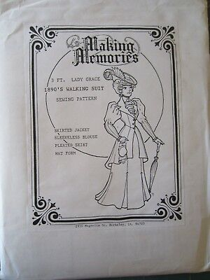 Making Memories 1890's Walking Suit Sewing Pattern for 3 ft. Lady Grace, Uncut