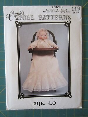 "Connie's Doll Patterns #119, Bye-Lo in Two Sizes, 12"", 15"" & Carolin 19 "" New"