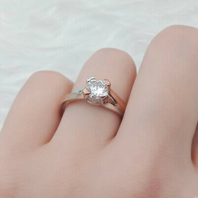 Jewelry Silver&Gold Plated Crystal Rhinestone Ring Fashion Women Ring Size 6-10