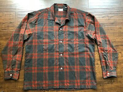 VINTAGE 1950s MENS PENNY'S TOWNCRAFT SHIRT Large 16 through 16 1/2 Rockabilly