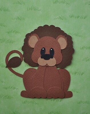 Lion - fully assembled die cut / paper piecing