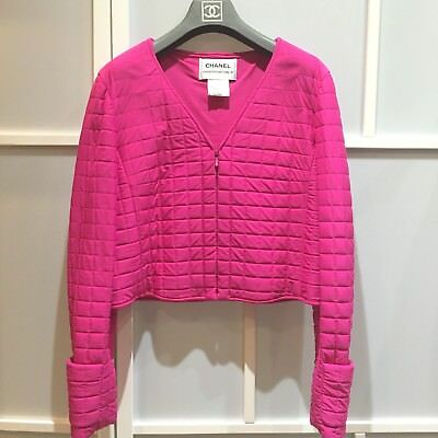 100% authentic Chanel hot pink jacket