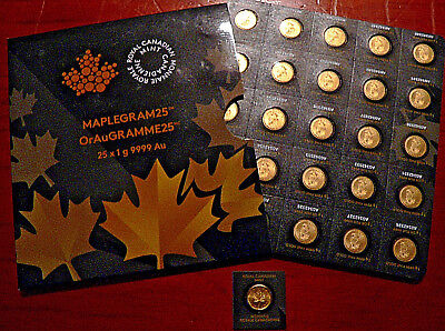 Royal Canadian Mint 2015 1gm .9999 Fine Gold Maplegramme  FREE POST TRACK & SIGN
