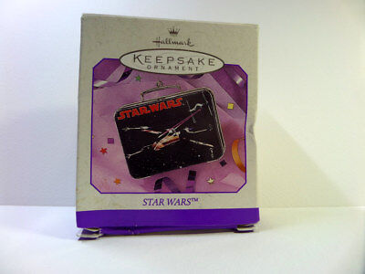 "Hallmark Ornament:  ""star Wars Mini Lunch Box""-Pressed Tin-1998"