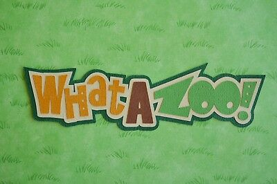 Fully assembled 'What A Zoo' scrapbook title