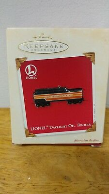 "Lionel Hallmark Keepsake Train ornament Daylight Oil Tender metal new 3"" 2003"
