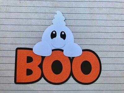Fully assembled 'Boo' halloween scrapbook title