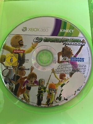 Sports Island Freedom Xbox 360 Original Pal Vgc Kinect Games Case & Disc Only