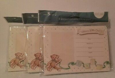 New American Greetings 3 Packs for 24 Birth Announcements 24 Decorative Stickers