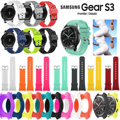 Soft Silicone  Wrist Watch Band Strap For Samsung Gear S3 Classic / Frontier