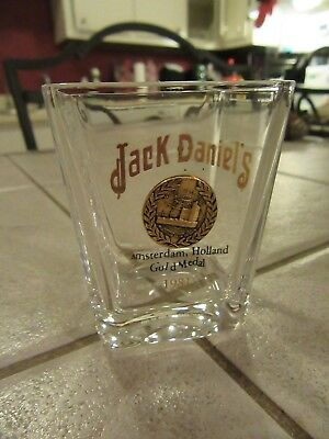 Vintage Jack Daniels Amsterdam Holland Gold Medal 1981 Shot Glass L@@K!