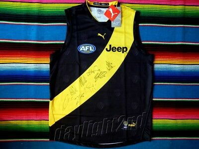 ✺Signed✺ 2017 RICHMOND TIGERS Premiers Guernsey COA Cotchin Riewoldt Rance AFL
