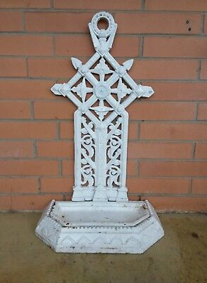 Vintage Cast Iron Umbrella Stand Outdoor Verandah Garden Ornament