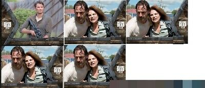 Topps The Walking Dead Fear INTO THE HUNT 1XSpencer  ,4XRick/Deanna 5x Digital