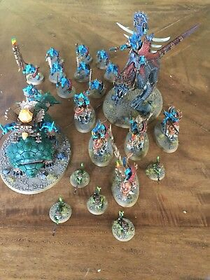 Warhammer Age Of Sigmar Fantasy Well Painted & Based Seraphon Lizardmen Army !!!