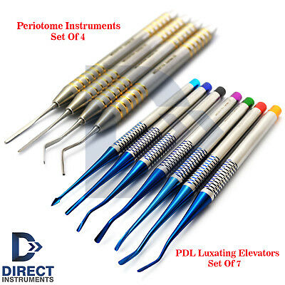 11Pcs Periodontal Ligament Instruments PDL Elevator Periotome Implant Surgery CE