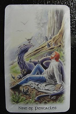 Nine of Pentacles Celtic Dragon Tarot Single Replacement Card Excellent