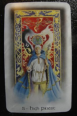 5-Hight Priest The Celtic Dragon Tarot Single Replacement Card Excellent