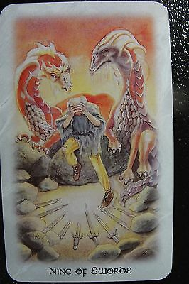 Nine of Swords The Celtic Dragon Tarot Single Replacement Card Excellent