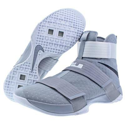 87846385c68 NEW Nike LeBron X Soldier 10 Grey White Basketball Shoes 856489-002 Mens sz  15.5
